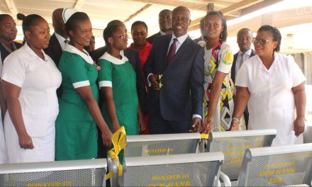 Tema Polyclinic gets new OPD seating from GCB Bank