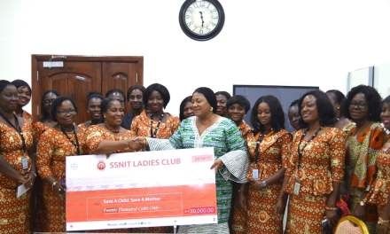 SSNIT Ladies give GHC20K to 'Save a Child Save a Mother' Project