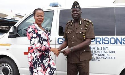 St. John Hospital donates Ambulance to Prisons Service