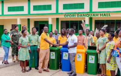 GHANASS 1999 Year Group gives trash bins to alma mater