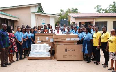 SOS Hermann-Gmeiner International College class of 2020 gives incubators to Tema General Hospital
