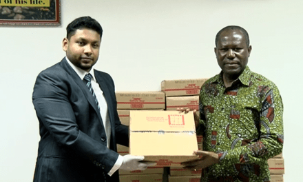 ECOM Ghana gives soaps to cocoa communities