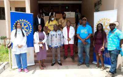 Rotary Club donates PPE to Doctors in Residency