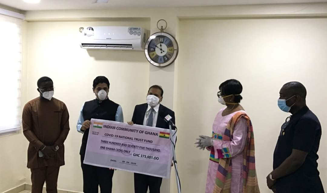 Indian Community gives  COVID19 Fund GHC375k