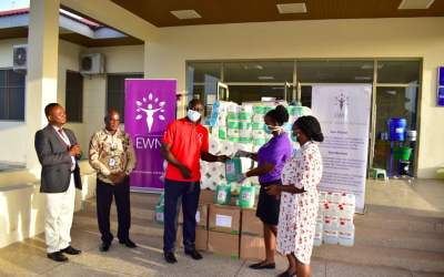 EWN gives PPE, supplies to Gtr Accra, UER hospitals
