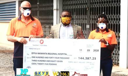 Monpe Heavy Haulage assists Effia Nkwanta Hospital with GHS144,387 to fight covid-19