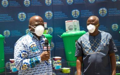 Ghana Maritime Authority gives GPRTU PPE, other