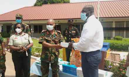 Tiger Force gives PPE, phones to 37 Military Hospital