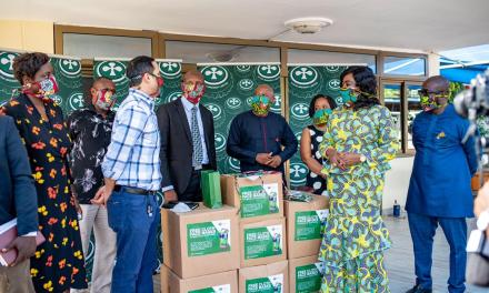 Accra Brewery donates face masks to bar operators