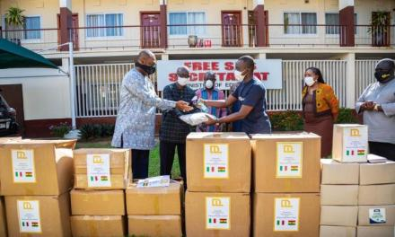 De Lorenzo gives PPE to Ghana's Education Ministry