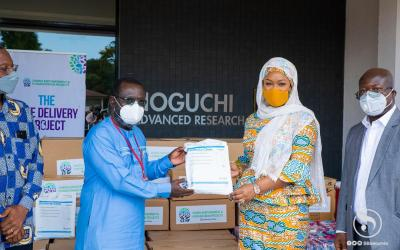 SEHP gives Noguchi Institute PPE, critical supplies
