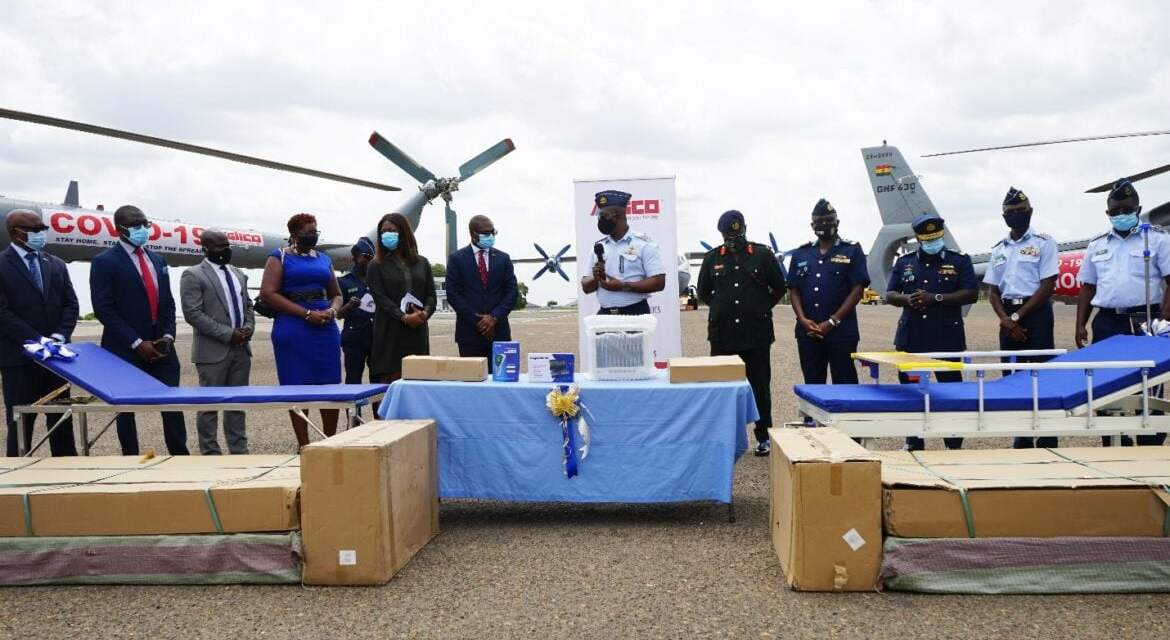 Glico assists Ghana Air Force to FIGHT COVID-19