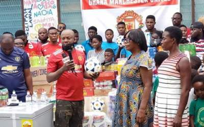 Ghana Man United Supporters assist Nectar Foundation