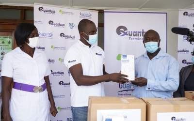 Quantum Terminals gives to Tema General Hospital