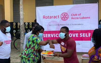 Rotaract Osu-Re, Accra-Labone and Belo Horizonte assist Catholic Jubilee School