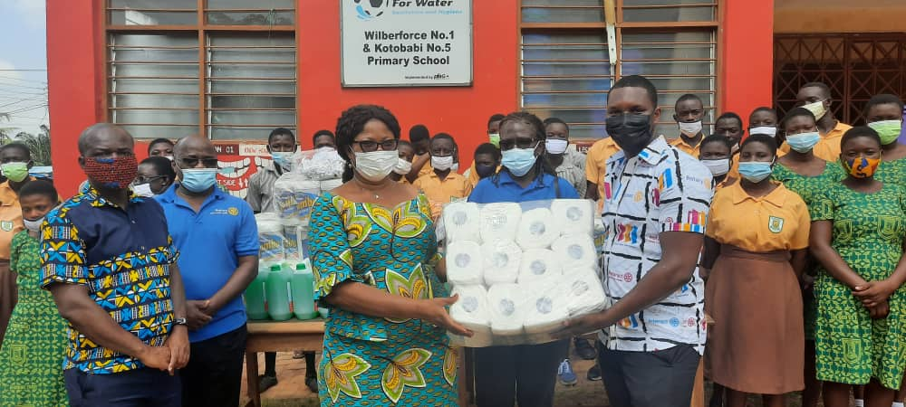 Rotary Club of Accra North donates PPE and supplies to Kotobabi Cluster of Schools