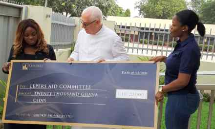 Goldkey Properties donates GHS20,000 to support the work of Lepers Aid Committee