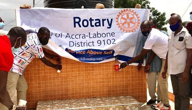 Rotary Club of Accra Labone builds borehole water facility for Alavanyo in Ga East