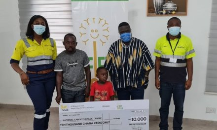 AGAG Club Fifty-50 gives GHS10,000 to help pay for Heart Block surgery costs for Godwin Asare