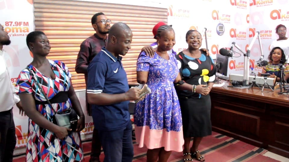 Akoma Mu Nsem FM show raises GHS10,000 to pay for prosthesis for Millicent Kyeremeh