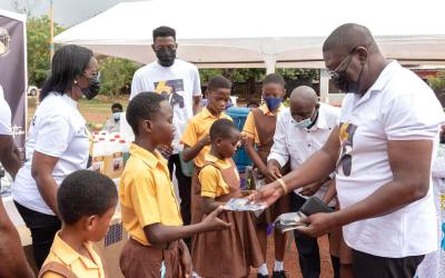 Living Streams International Church donates PPE to La Wireless Cluster of Schools