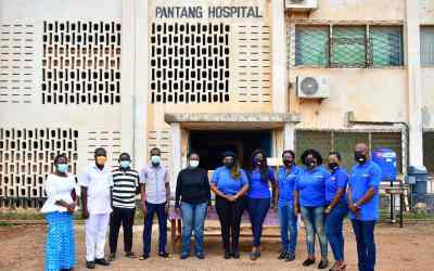 Rotary Club of Accra Morning Tide gives COVID-19 prevention supplies to Pantang Hospital
