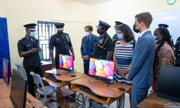 GIZ refurbishes IT classrooms and laboratories of the Ghana Police Service in Accra