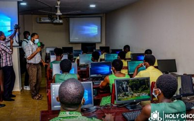 ICGC Holy Ghost Temple refurbishes computer lab for Frafraha Senior High with 65 computers