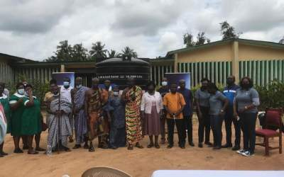 Stanbic gives hospital equipment, water tank to Agona Abrem Health Center Maternity Unit