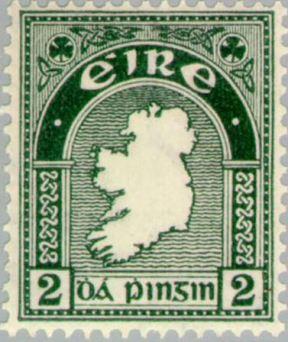 le premier timbre d'Irlande en tant que pays indépendant a été émis en décembre 1922