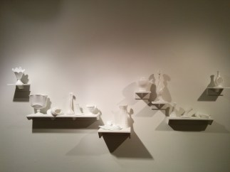 Amber Cowan, Milk Glass Installation 1, 2016.