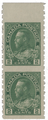 canada 128a mint stamp pair-admiral