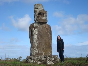 This Moai was all alone far from the road and rarely visited - he is different from the others