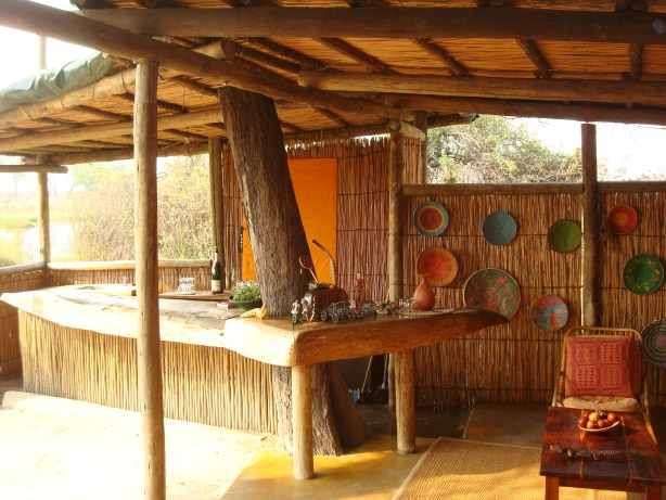 Safari bar at Oddballs camp Botswana Moremi