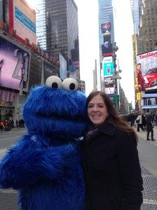 Times Square, NYC - Me & Cookie Monster