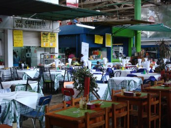 The seating at the market