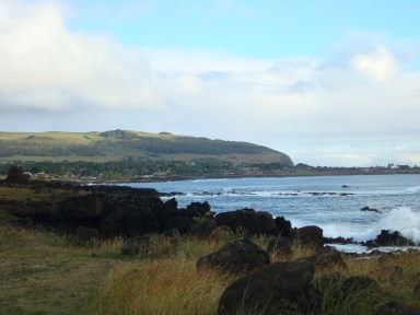 Easter Island coastline view