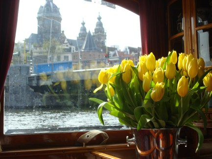"""looking out at Amsterdam from """"The Tourist"""""""