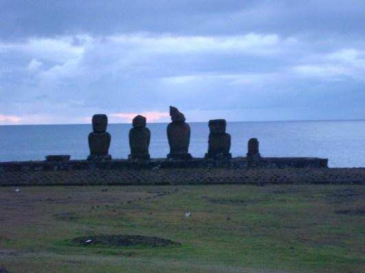 Ahu at Hanga Roa Moai of Easter Island Statues