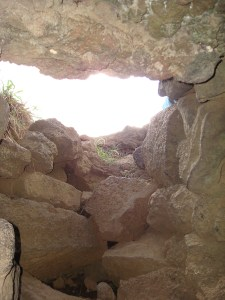 Cave entrance/exit to climb