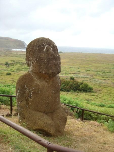 Kneeling Monk Easter Island statues