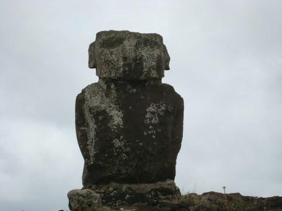 Easter Island statues birdman or owl looking