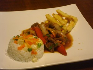 Steak frites w/rice