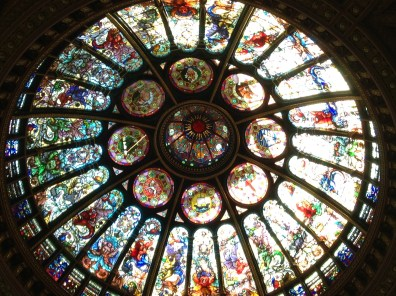 As if the Stanley Cup weren't impressive enough just look up and see the ceiling of stained glass