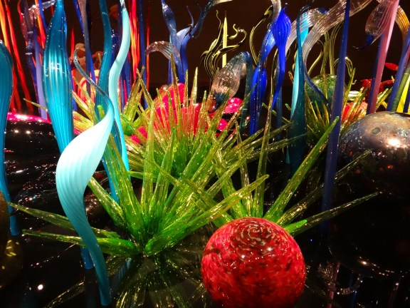 Colorful garden of glass at Chihuly