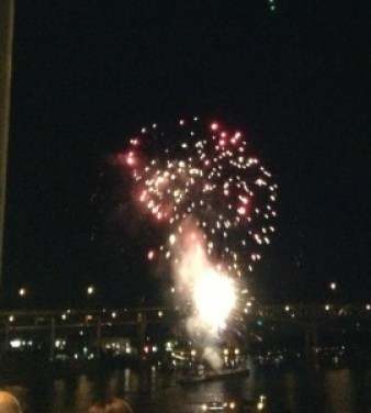 Fireworks over the Willamette River