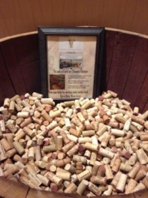 Recycling corks from wine socials (looks like a lot of fun was had!)