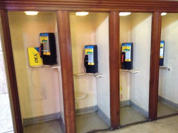 Telephone booths Union Station Portland