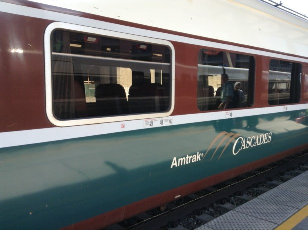 Amtrak Cascade train