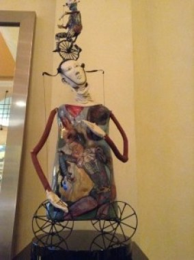 Comedy or Tragedy?  Art in the lobby